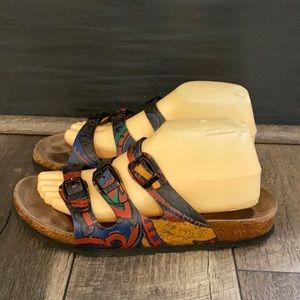 Authentic Birkenstock Papillo Art Deco sandals 9